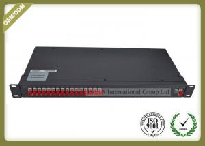 China 19 1U Rack Mounted Optical Plc Splitter 1x16 Cold Rolled Steel Material on sale