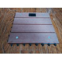 WPC Outdoor Solar Composite Interlocking Deck Tiles For Boardwalk , Playground
