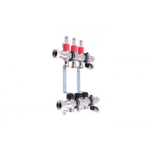 Quality Stainless Steel 304 Floor Water Supply Manifold With Short Flowmeter for sale