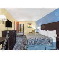 Simple King / Twin Size Hotel Bedroom Furniture Set With Headboard and TV Table