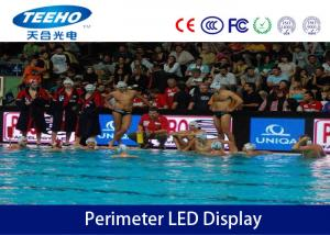 China P10 Flexible Indoor Perimeter LED Display Advertisement , 8 Bit 3-IN-1 SMD on sale