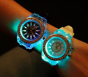 China LED watch for teh young and the old on sale