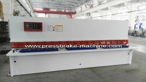 China Plate Hydraulic Sheet Metal Cutting Machine NC Control 8 X 4000mm on sale