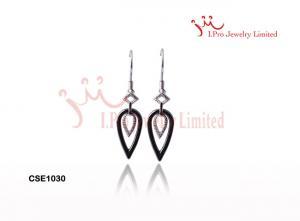China ladies Popular Triangle Drop ceramic earrings with hoops earrings on sale