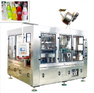 China Compact High Speed Glass Bottle Filling Line For CSD With Crown Cap on sale