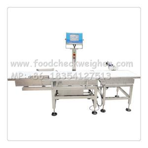China Food Check Wegher with conveyor belt and rejector for food processing line on sale