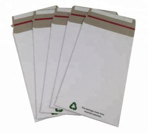 China Recyclable White Cardboard Envelopes , Please Do Not Fold Envelope For Mailing on sale