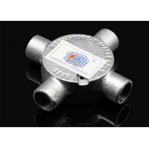 China 3/4 ou 1 boîte de jonction circulaire de fonte malléable de pièce en t de coude d'inspection de la Manche pour le conduit rigide on sale