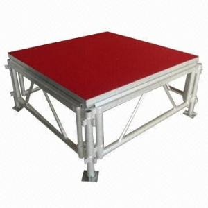 China Portable Waterproof Acrylic / Plywood Temporary Stage Platforms Heavy Loading Adjustable Height on sale