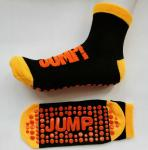 Moisture Absorbing Non Slip Trampoline Socks UK With Jacquard  / Embroidery Pattern