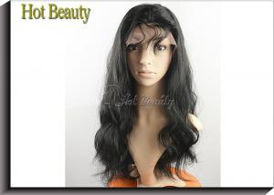 China 10 - 28 Virgin Human Hair Front Lace Wigs , Body Wave Lace Hair Wig on sale