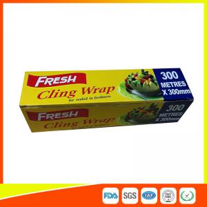 China Soft Heat Resistant PE Catering Cling Film , Cooking Biodegradable Cling Wrap on sale
