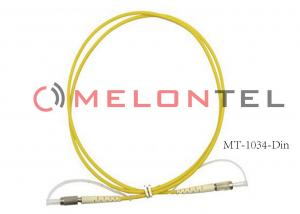 China Customized ABS Fiber Optic Jumper Wire , DIN-DIN Optical Fiber Patch Cable on sale