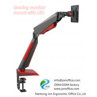 China 2020 computer gaming monitor mount arm clamp stand with LED light OEM ODM manufacturer Jonoffice on sale