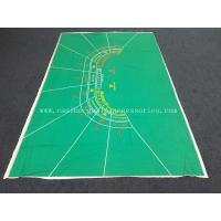 Gambling Table Cloth Table Felt Green Water Repellent with 9 Player