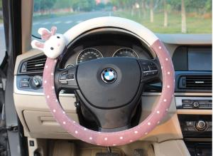 China 2015car interior products Meng rabbit cartoon super Meng rabbit plush steering wheel cover on sale