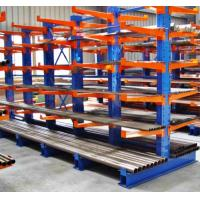 China warehouse heavy duty side steel pipe cantilever rack double column cantilever racking for rebar storage on sale