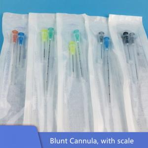China Sterile Packaging Blunt Tip Microcannula For Dermal Filler Use on sale