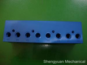 China Aluminum 6061-T6 High Precison Jig and Fixture Clamps with Blue Anodized on sale