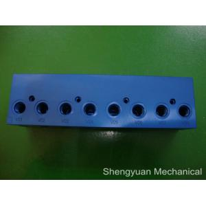 China Aluminum 6061-T6 High Precison Jig and Fixture Clamps with Blue Anodized supplier