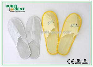 China Eco Friendly Comfortable Disposable House Slippers Nonwoven / EVA on sale