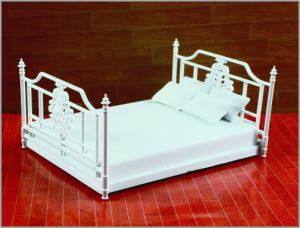 China Architectural Homes 3D Model Furniture Antique Court Art Double Bed 1:20/1:25/1:30 on sale