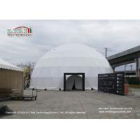 25m Diameter White Color Geodesic Dome Tents With Interior Projection Fabric For Art Festival