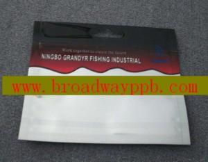 China Plastic Fishing Lure Bag With Ziplock on sale