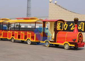 China High quality Amusement kids Park Electric Trackless Sightseeing Tourist Road Train rides for sale on sale