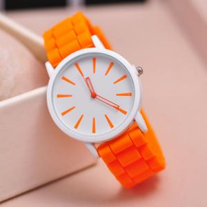 China 2015 Casual Watch Geneva Quartz watch 12 colors Ladies Watch ,Geneva Silicone Jelly watches for women and men on sale