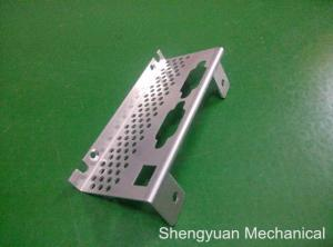 China Motorcycle Sheet Metal Bending Side Cover Metal with Holes , Aluminium 5052 on sale