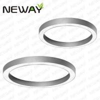 Fashionable circle office LED ceiling lamp Decorative fancy ceiling lighting Contemporary tiers circle led ceiling lamp