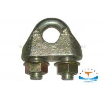 DIN1142 Marine Hardware Drop Forged Wire Rope Clamp Electro Galvanized