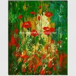 Colorful Abstract Floral Painting  Hand - Painted With Texture Customized Size Or Color