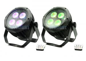 China High Lumen IP65 4 x 12W Battery Powered Led Uplight For Events , Party on sale