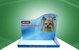 China Advertisment Countertop Cardboard Display Stands / Paper Display Tray for Pet Shampoo on sale