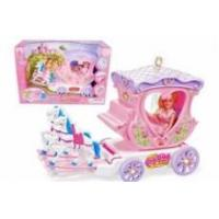 Electric car baby horse carriage princess toys with light & music