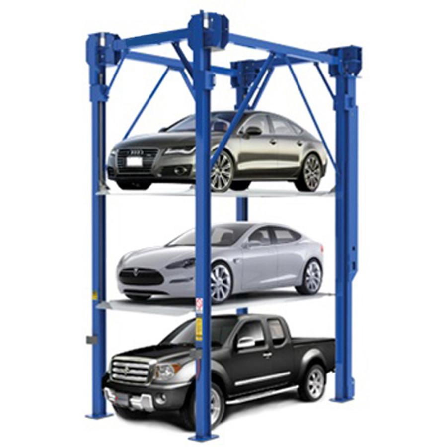 3 Levels Stacker Car Parking System Parking Lot Equipment