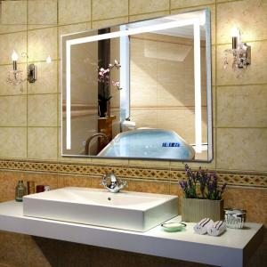 China Popular hotel bath LED mirror lighted bathroom mirror on sale