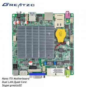 China DC12V Nano ITX Industrial PC Motherboard , Dual Gigabit LAN With HDMI VGA LVDS on sale