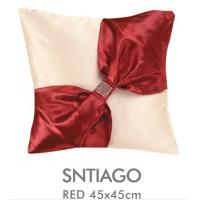 Soft Zippered Handmade Decorative Bed Pillows Colorful With Bow / Rhinestone , 40x40 CM