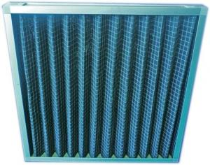 China Rigid Aluminum Extended Surface Air Filter Pleated With Activated Carbon Felt on sale