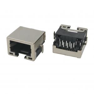 China 8P8C tap-down recessed low profile RJ45 connector shielded with LED on sale