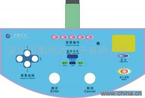 China PET / PC Flexible Membrane Switch Embeded in LED , Rubber Membrane Key Switch on sale