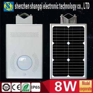 China High Brightness 6000k - 6500K White Solar Powered LED Garden Lights 8 Watt on sale
