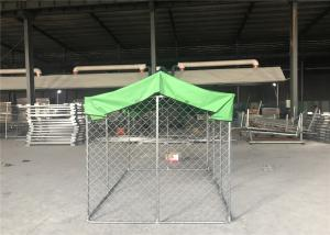 China Large outdoor galvanized cheap chain link dog kennel 7.5x13x6ft(2.3x4x1.8m) 2.3mm wire diameter on sale
