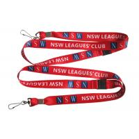 China Heat Transfer Printing Nsw Leagues Club Sublimation Lanyard For Id Card, Work Card, Key on sale