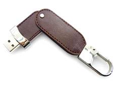 Twister leather custom usb flash drive