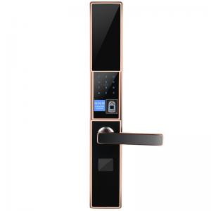 China Sliding Cover Electronic Fingerprint Door Lock , Password Magnetic Card Lock on sale