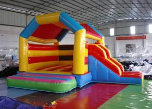 China Funny Inflatable Combo Slide Bounce House / Moonwalk Bouncer For Playground on sale
